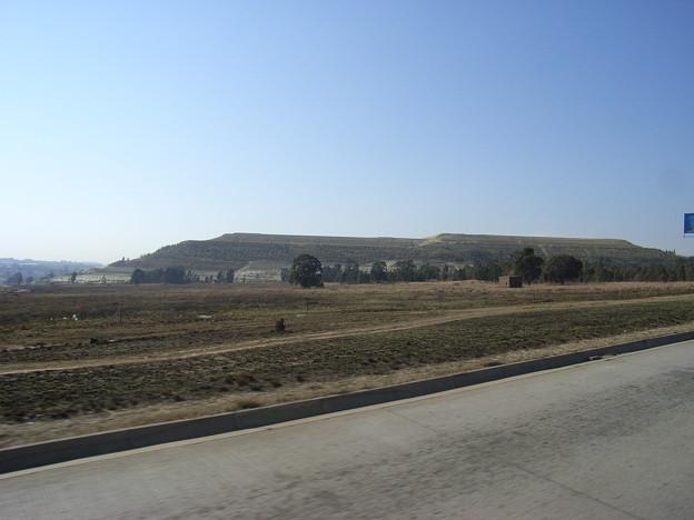 ハウテン 金鉱山のボタ山