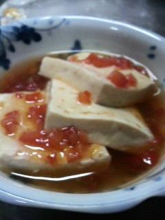 豆腐のトマトあんかけ。もっ...