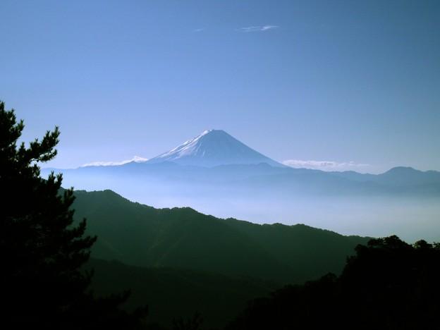 昇仙峡展望台から望む富士山