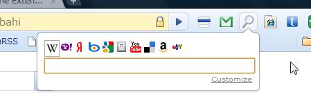 写真: Chromeエクステンション:Quick Search(拡大)