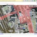 写真: Chromeエクステンション:Mini Google Maps(航空写真、拡大)