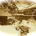 雪の温泉宿