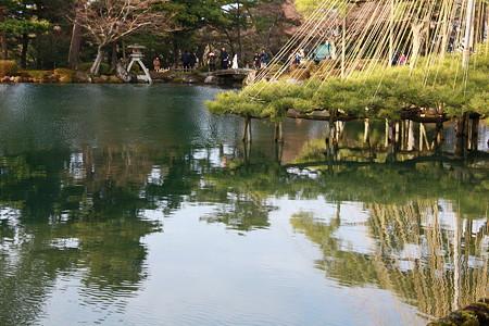 霞が池 唐崎の松 徽軫灯籠