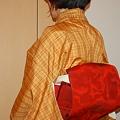 Photos: 黄八丈紬 の 着物