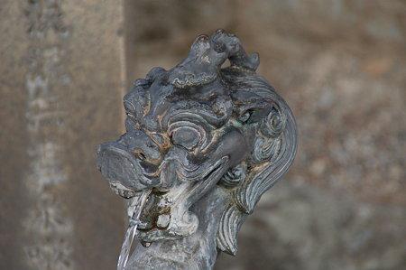 法隆寺 中門手水