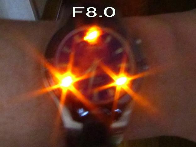 謎の星現象テスト F8.0 最大絞り