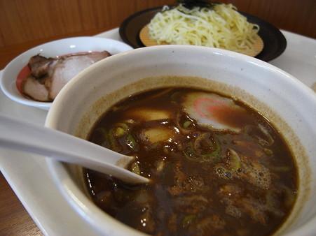 幸楽苑 バロー上越モール店 濃厚魚介つけめん チャーシュートッピング スープアップ
