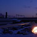 夕暮れの旭川駅