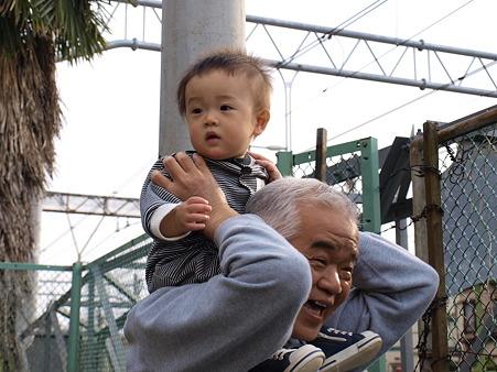 おじいちゃんが嬉しそう
