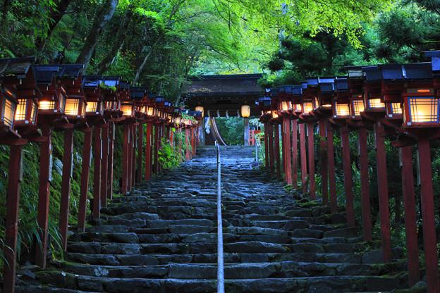 照片: 貴船神社参道 京都・貴船