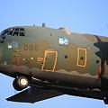 夕焼けの中を着陸するC-130 #086~その3