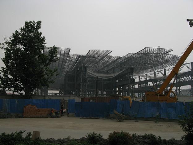 上海万博建設中(たぶん中国館3)