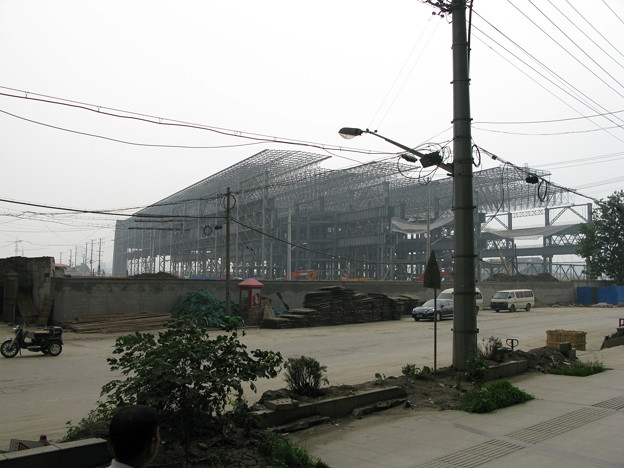 上海万博建設中(たぶん中国館4)