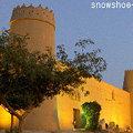 夕方のマスマク城