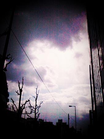 太陽に逃げられた午後。