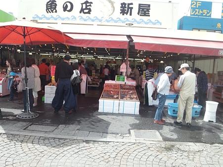 震災後の那珂湊のおさかな市場