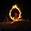 Photos: 火の輪くぐりジャンプ(スノボ1)