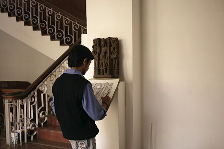 2010.02.05 デリー 国立近代美術館 模写