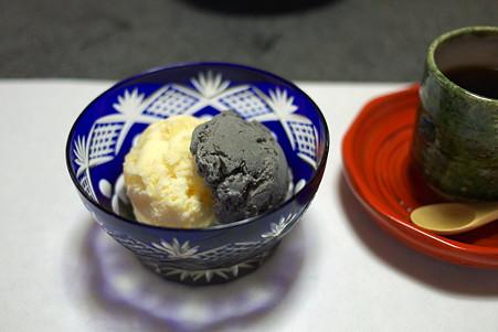 2010.10.27 三沢 はかま田 シャーベットと珈琲 りんごと胡麻