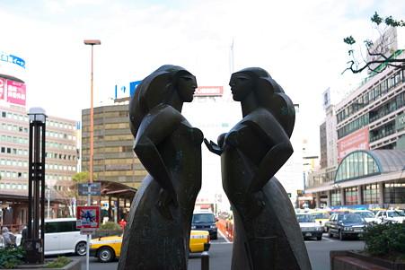 2011.02.19 横浜 高島屋前広場 女性像