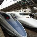 500系と700系(いずれもJR西日本車)