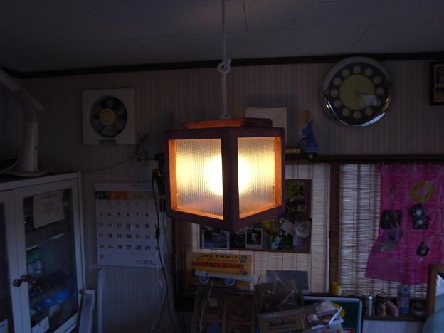 自作の照明