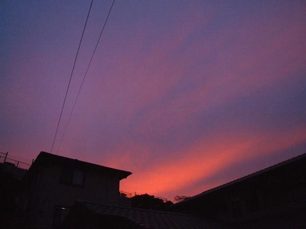 夕焼け 西の空