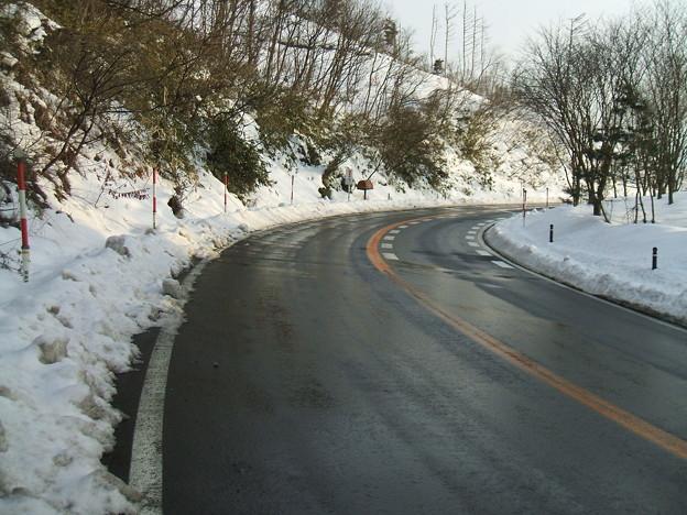 福島県道64号の冬 - 明ル坂 - 3rdヘアピンカーブ - 2