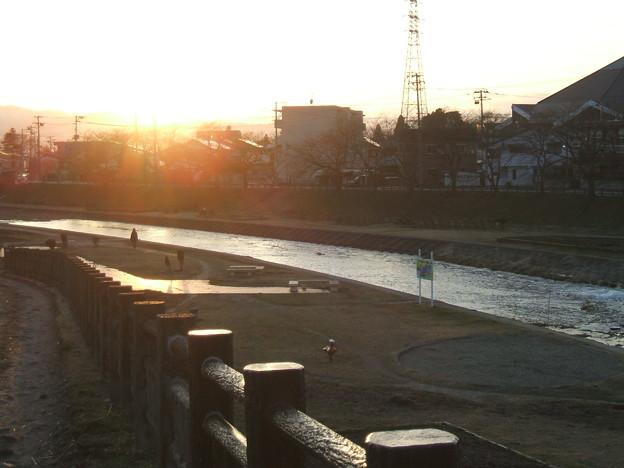 湯川の夕暮れ - 1