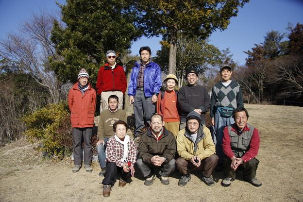 富幕山へ今年☆トミー17回登頂常連メンバー