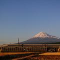 Photos: 500系に夕日