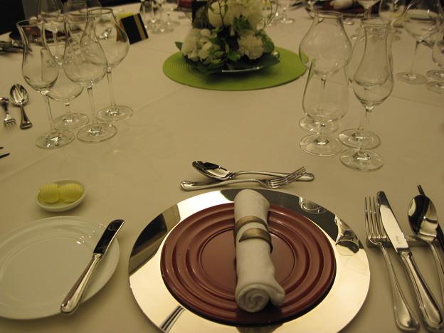 Photos: テーブルにて