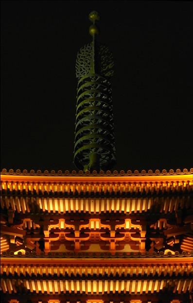 写真: 相輪 浅草寺五重塔
