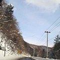 写真: 麓郷に向かう道路