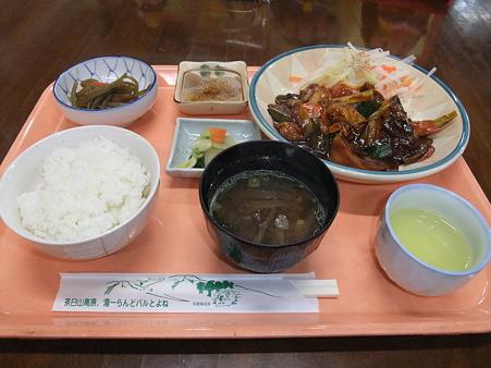 鶏肉と椎茸のみそ煮定食(道の駅・豊根グリーンポート宮嶋【愛知】)