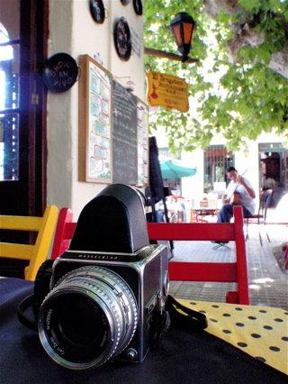 クラシカルなカメラがよく似合う