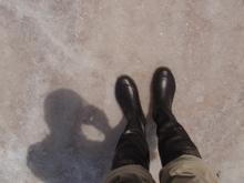 写真: ウユニ塩湖2 雨靴持参で
