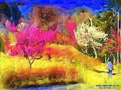 梅は~咲いたか~(野獣派油彩)