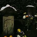 写真: 雪の道祖神