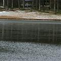 Photos: 寒い!!杖突峠のとなり・千代田湖