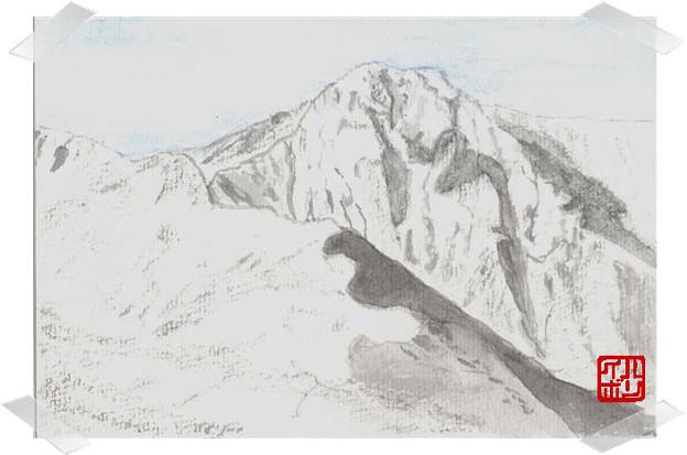 04厳冬の北岳バットレス